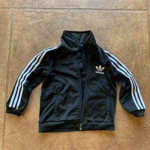 Adidas Toddler Zip Up Jacket Two Front Pockets Bla